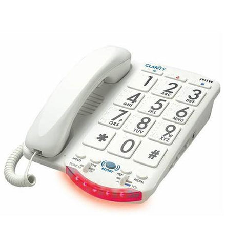 Clarity CLARITY-JV-35W Amplified Big Button Phone White Keys - Peazz.com