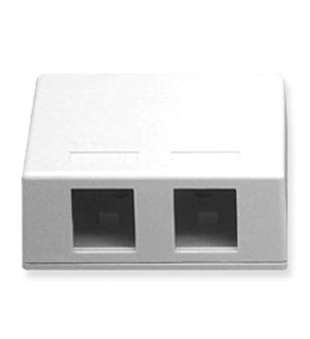 ICC ICC-SURFACE-2WH IC107SB2WH - SURFACE BOX 2PT White - Peazz.com