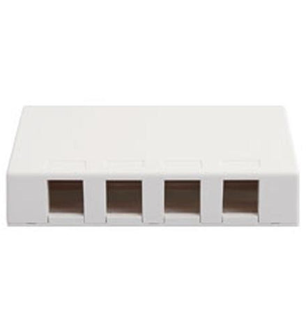 ICC ICC-SURFACE4WH IC107SB4WH  SURFACE BOX, 4 PORT WHITE - Peazz.com