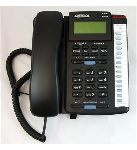 Cortelco ITT-2220BK 222000-TP2-27E Colleague 2-Line EN BK - Peazz.com