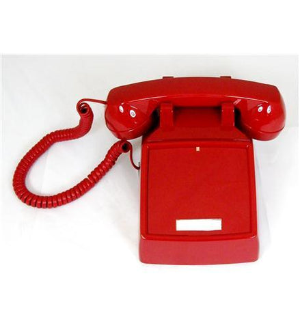 Cortelco ITT-2500NDL-RD 250047-VBA-NDL Red desk no dial - Peazz.com