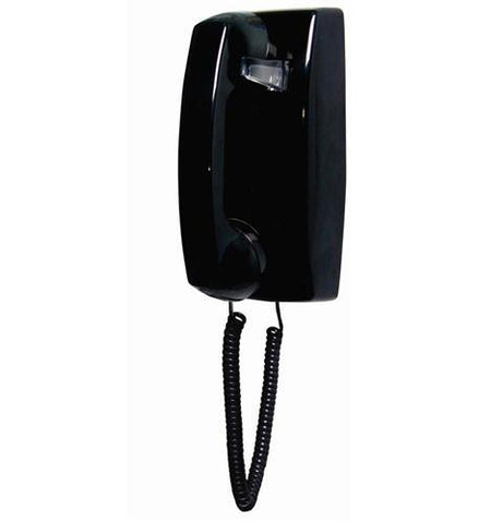 Cortelco ITT-2554NDL-BK 255400-VBA-NDL Black wall no dial - Peazz.com
