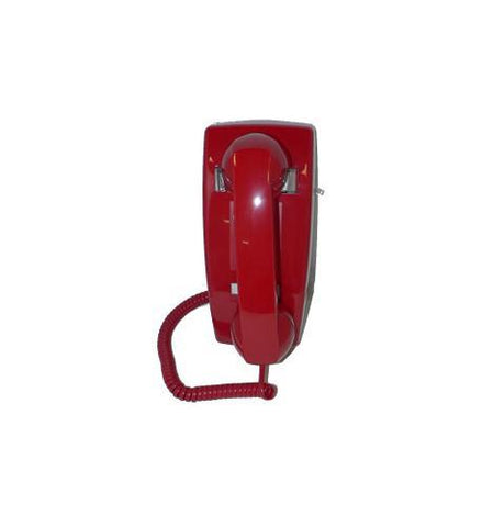 Cortelco ITT-2554NDL-RD 255447-VBA-NDL Wall No Dial Red - Peazz.com