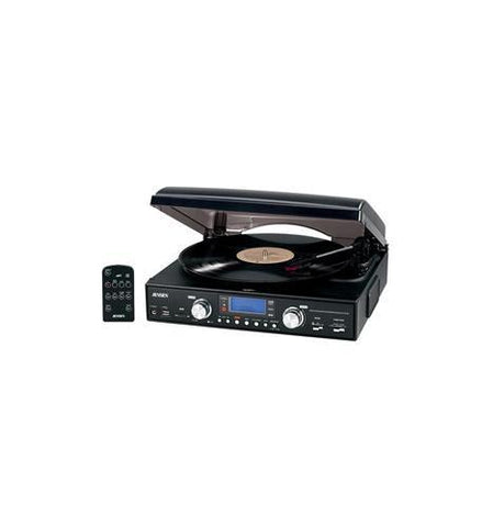 Spectra Merchandising JEN-JTA-460 3-Speed stereo turntable with MP3... - Peazz.com