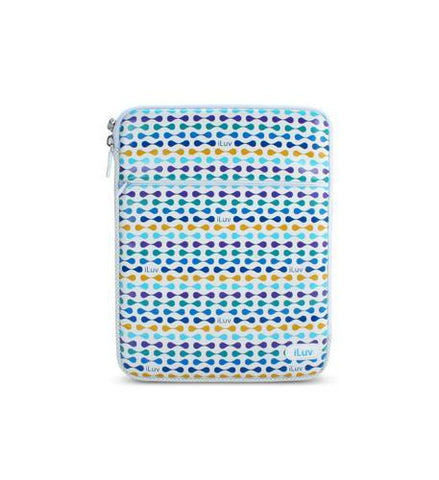 JWIN JV-iCC2012BLU The Luxe, Leatherette iPad Sleeve - Blue - Peazz.com