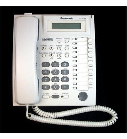 Panasonic Business Telephones KX-T7731 Speakerphone W/ LCD WHITE - Peazz.com