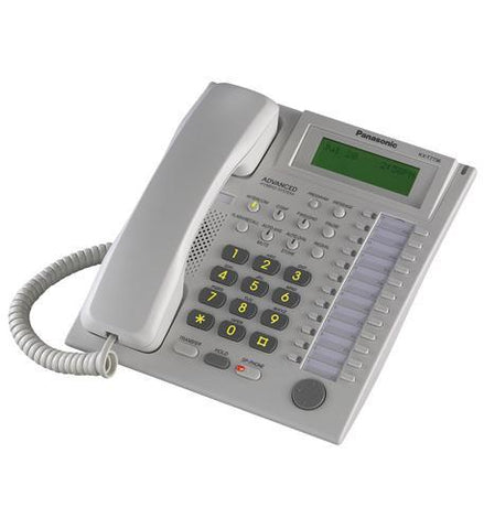 Panasonic Business Telephones KX-T7736 BTS W/ Large LCD - White - Peazz.com