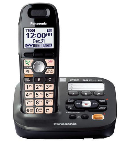 Panasonic Consumer KX-TG6591T Titanium Black DECT 6.0+ Amplified sound - Peazz.com