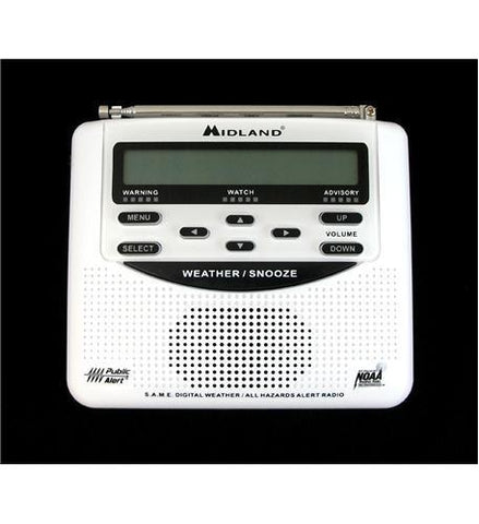 MIDLAND RADIO MID-WR-120B SAME Weather Alert Trilingual Monitor - Peazz.com