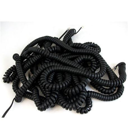 NEC DSX Systems NEC-1091033 25ft. Handset Cords - Black, 5PK - Peazz.com