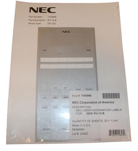 NEC 1091054 Wireless Headset Adapter F// DSX 34-Button Backlit Display Telephone