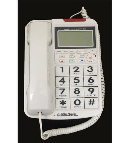 Northwestern Bell NWB-20270-1 Big Button w/ Caller ID WHITE - Peazz.com