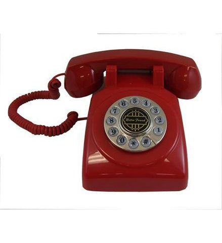Paramount PMT-1950-DESKPHONE-RD 1950 Desk phone Red - Peazz.com