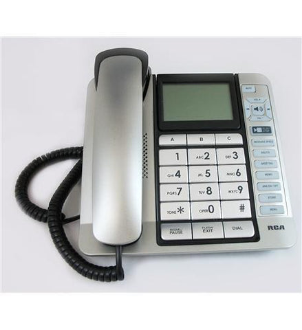 Telefield N.A. RCA-1114-1BSGA Corded Desk Phone, CID,ITAD, Tilt Screen - Peazz.com