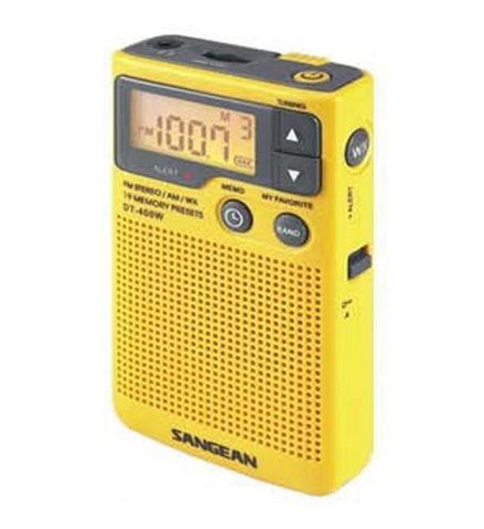 Sangean SAN-DT400W AM/FM Digital Weather Alert Pocket Radio - Peazz.com