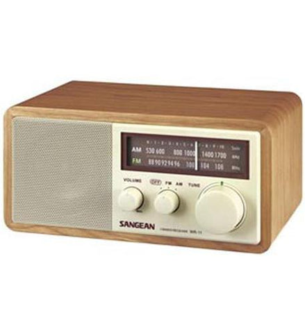 Sangean SAN-WR11 Wood Table Top Radio - Peazz.com