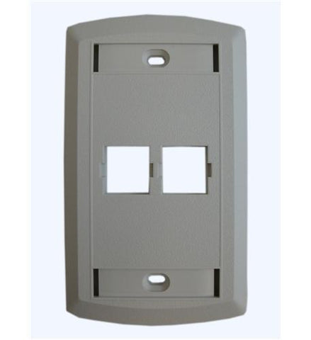 SUTTLE 1 SE-STAR500S2-85 Suttle 2 Outlet Faceplate-WHITE - Peazz.com