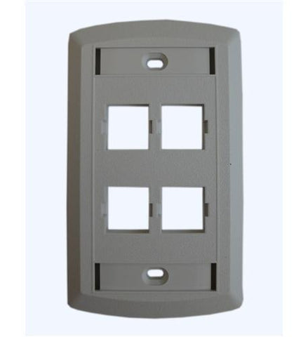 SUTTLE 1 SE-STAR500S4-85 Suttle 4 Outlet Faceplate - White - Peazz.com
