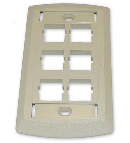SUTTLE 1 SE-STAR500S6-52 Suttle 6 Outlet Face Plate - Ivory - Peazz.com