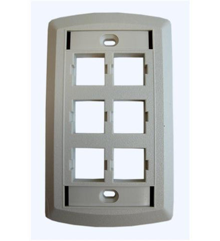 SUTTLE 1 SE-STAR500S6-85 Suttle 6 Outlet Face Plate-WHITE - Peazz.com
