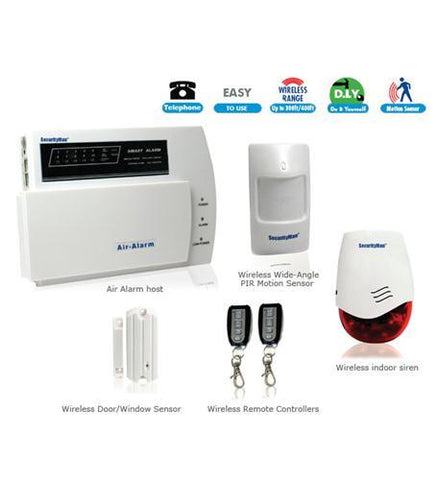 MACE GROUP SEC-AIR-ALARM1 D.I.Y. Wireless Home Alarm System Kit - Peazz.com