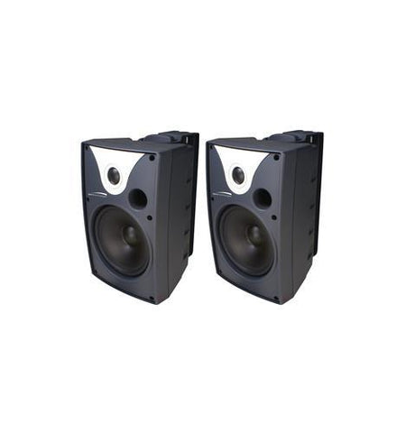 SPECO SPC-SP6AWXT 6 Outdoor Speaker Black and Trans. pair - Peazz.com
