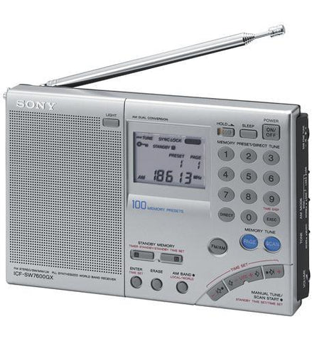 Sony SY-ICF-SW7600GR Multi-Band World Receiver Radio - Peazz.com