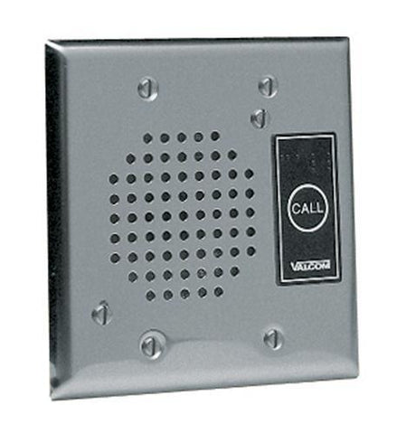 VALCOM VC-V-1072A-ST Talkback Doorplate Speaker - Stnless Stl - Peazz.com