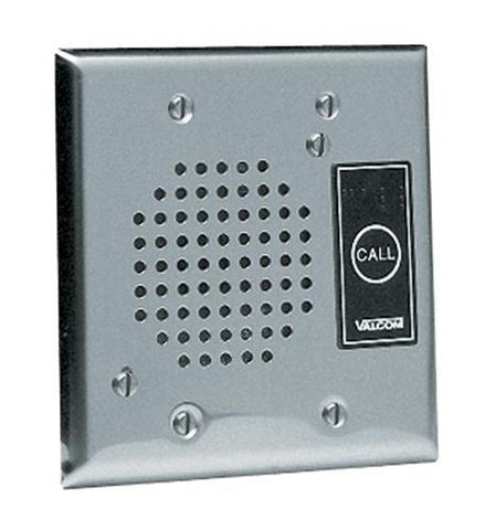 VALCOM VC-V-1072B-ST Doorplate Spkr, Flush w/LED (Stainless) - Peazz.com
