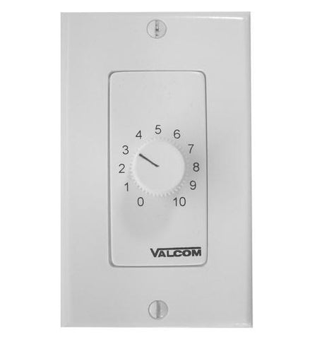VALCOM VC-V-2992-W Wall Mount Volume Control, Dec - Peazz.com