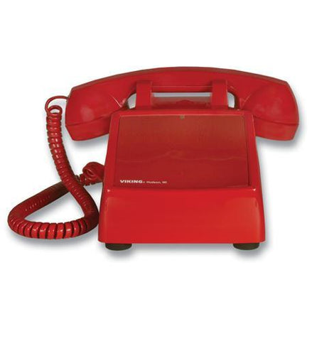 Viking Electronics VK-K-1500P-D No Dial Desk Phone - Red - Peazz.com
