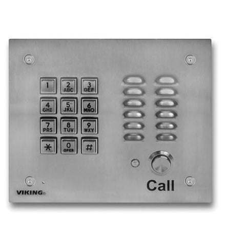 Viking Electronics VK-K-1700-3EWP SS Handsfree Phone W/ Key Pad - Peazz.com