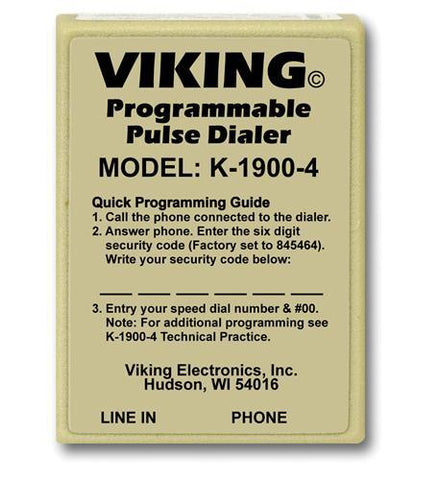 Viking Electronics VK-K-1900-4 Viking Hot Dialer - Peazz.com
