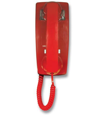 Viking Electronics VK-K-1900W-2 Hot Line Wall Phone - Red - Peazz.com