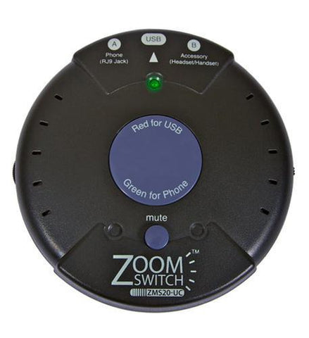 ZOOM ZM-ZMS20-UC Zoomswitch headset with MUTE - Peazz.com