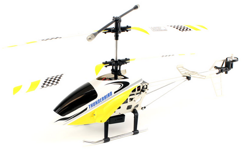 Thunderbird 68700 2.4ghz 3.5ch RC Helicopter with Gyro and Camera - Yellow - Peazz.com