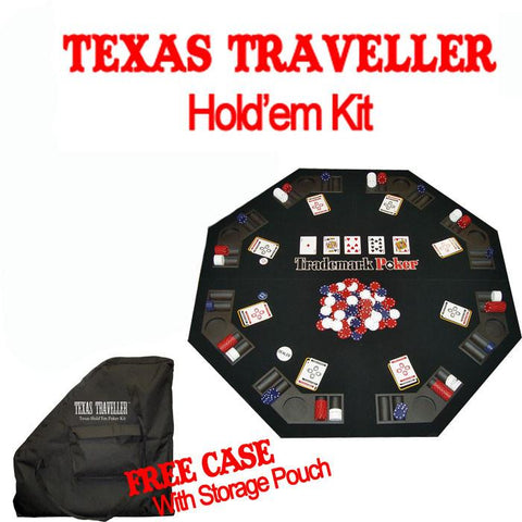 Trademark Commerce 10-0473 TEXAS TRAVELLER - Table Top & 300 Chip Travel Set - Peazz.com