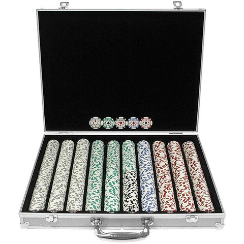 Trademark Commerce 10-0500-1ks 1000 Chip 11.5G High Roller Set W/Aluminum Case - Peazz.com