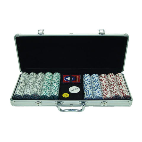 Trademark Commerce 10-0500-5001s 500 Chip 11.5G High Roller Set W/Aluminum Case - Peazz.com