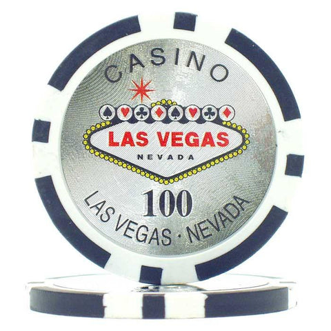 Trademark Poker 10-0700 15G Clay Welcome To Las Vegas Chip - Laser - Peazz.com