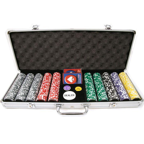 Trademark Commerce 10-0700-5001S 500 15G Clay Laser Las Vegas Chip Set W/ Aluminum Case - Peazz.com