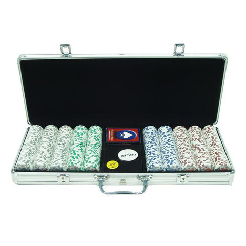 Trademark Commerce 10-1003-5001s 500 11.5G 4 Aces Poker Chip Set W/Aluminum Case - Peazz.com