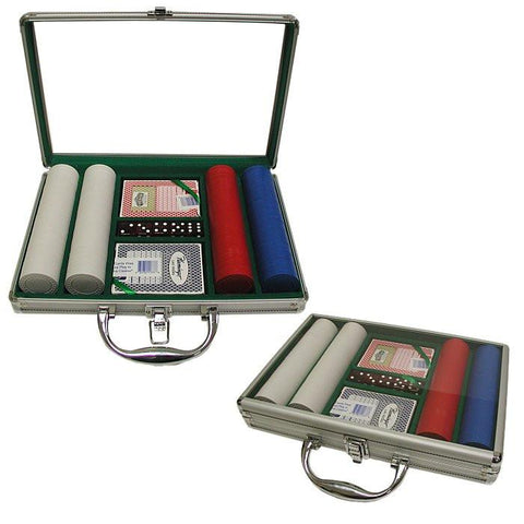 Trademark Commerce 10-1010-2002C 200 Super Diamond Poker Chips W/Clear Cover Aluminum Case - Peazz.com