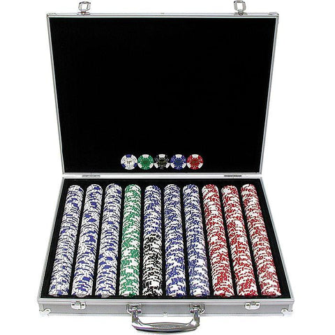 Trademark Commerce 10-1025L-1KS 1000 Landmark Lucky Crowns 11.5G Poker Chips W/Aluminum Case - Peazz.com