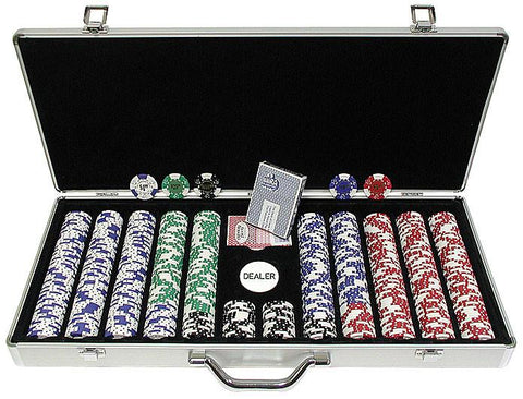 Trademark Commerce 10-1025L-650SDX 650 Landmark Lucky Crowns 11.5G Poker Chips W/Aluminum Case - Peazz.com