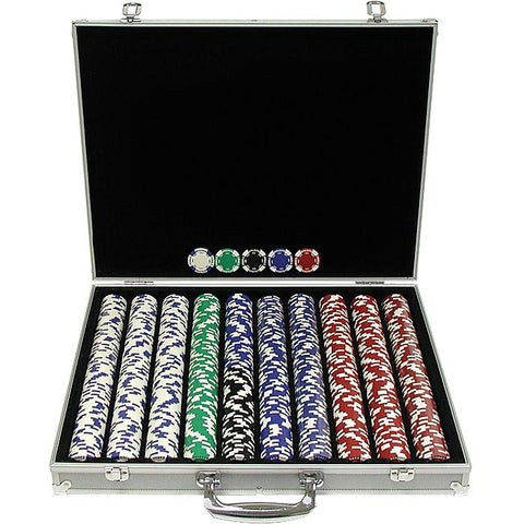 Trademark Commerce 10-1055-1ks 1000 11.5G Holdem Poker Chip Set W/Aluminum Case - Peazz.com