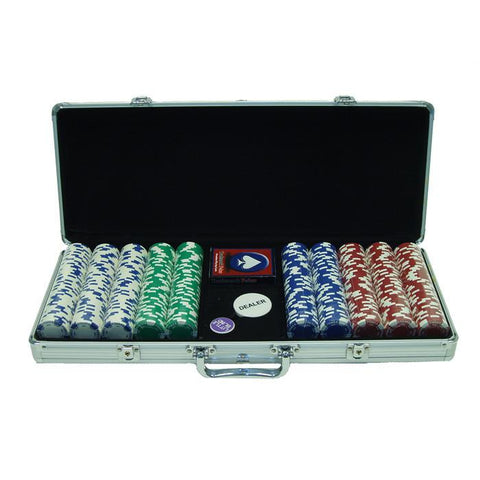 Trademark Commerce 10-1055-5001S 500 11.5G Holdem Poker Chip Set W/Aluminum Case - Peazz.com