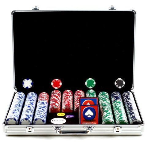 Trademark Commerce 10-1055-650sdx 650 11.5G Holdem Poker Chip Set W/Executive Aluminum Case - Peazz.com
