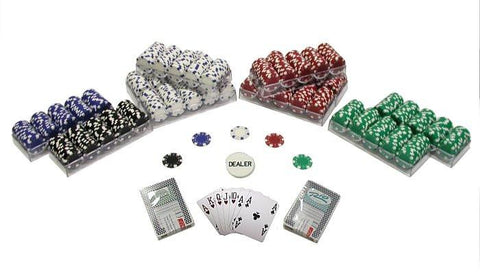 Trademark Commerce 10-1090-1k 1000 Striped Dice 11.5 Gram Poker Chips Texas Hold Em Set - Peazz.com