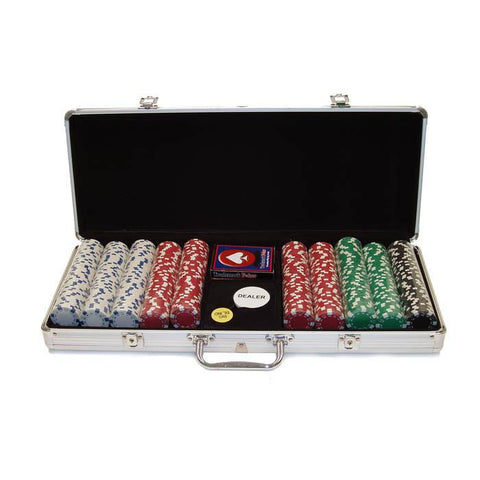 Trademark Commerce 10-1090-5001S 500 11.5 Gram Dice-Striped Chips In Alum Case - Peazz.com